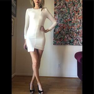 IRO Cream Long Sleeve Dress